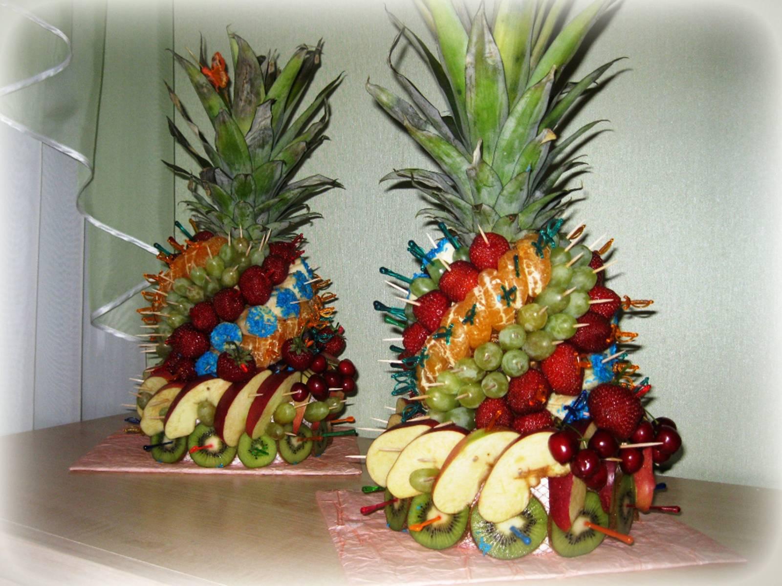 Как сделать пирамида из фруктов фото