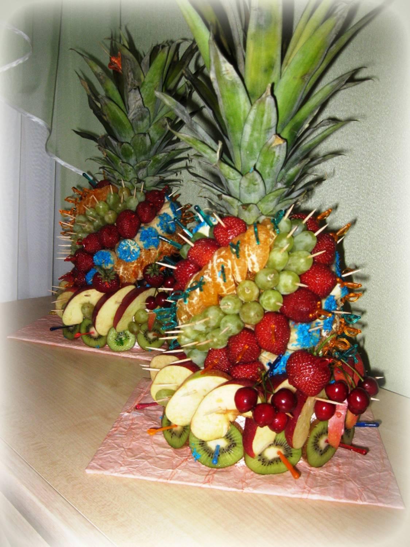 Пальма из фруктов своими руками